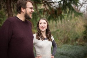 Bobby and Claire in Botanic Gardens, Edinburgh